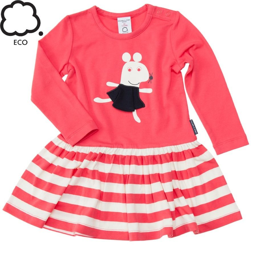 0602d9961 Eco Friendly Twirly Sweatshirt Dress with Mouse Print. From Polarn O ...