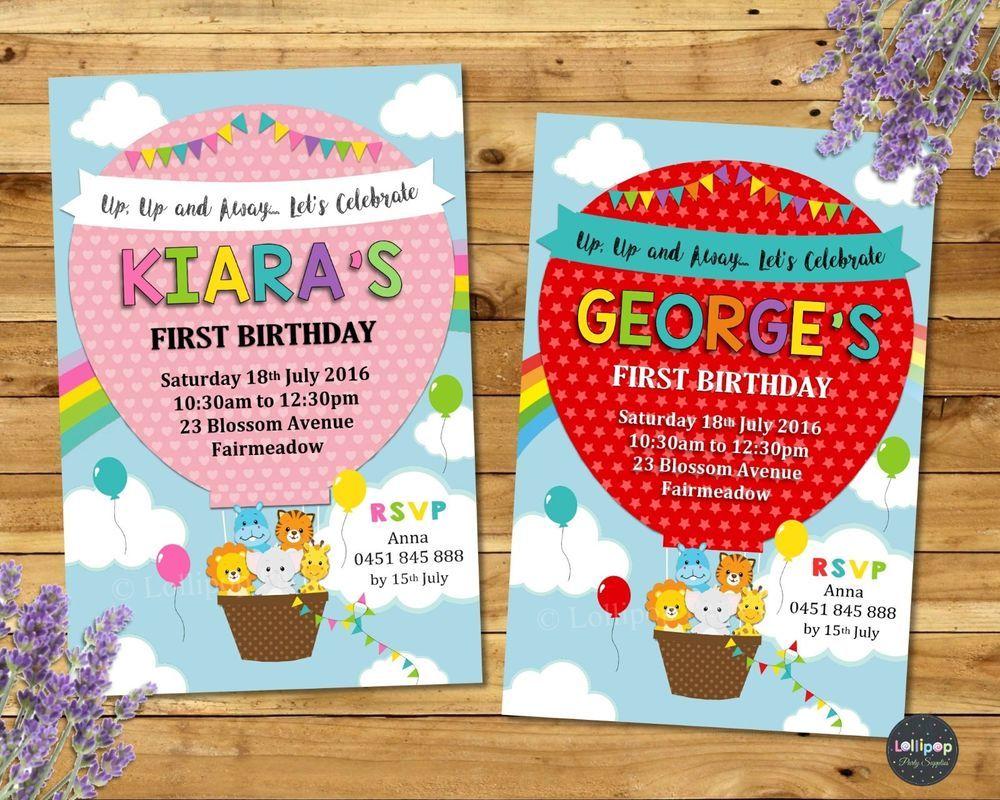 Funky Lollipop Birthday Invitation Pattern - Invitations and ...