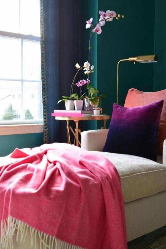 Jewel Tones Teal Living RoomsLiving Room