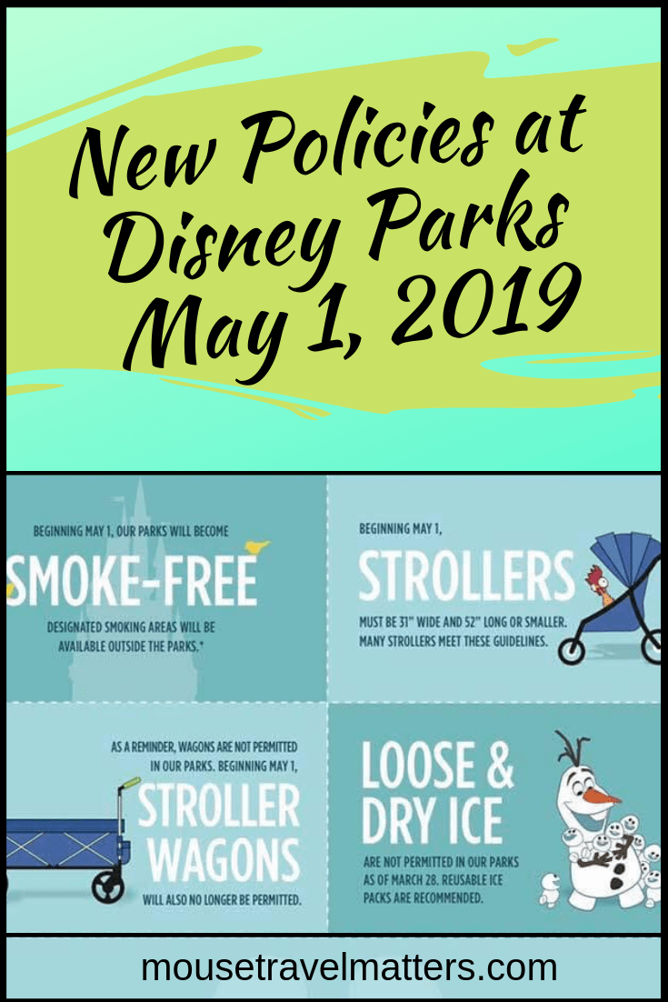 Stroller Wagons and Smoking No Longer Allowed in the Parks • Mouse Travel Matters is part of Disney world packing - New policy changes at Disney Parks will be taking affect May 1st, 2019  Make sure you are aware of these new changes before your next vacation!