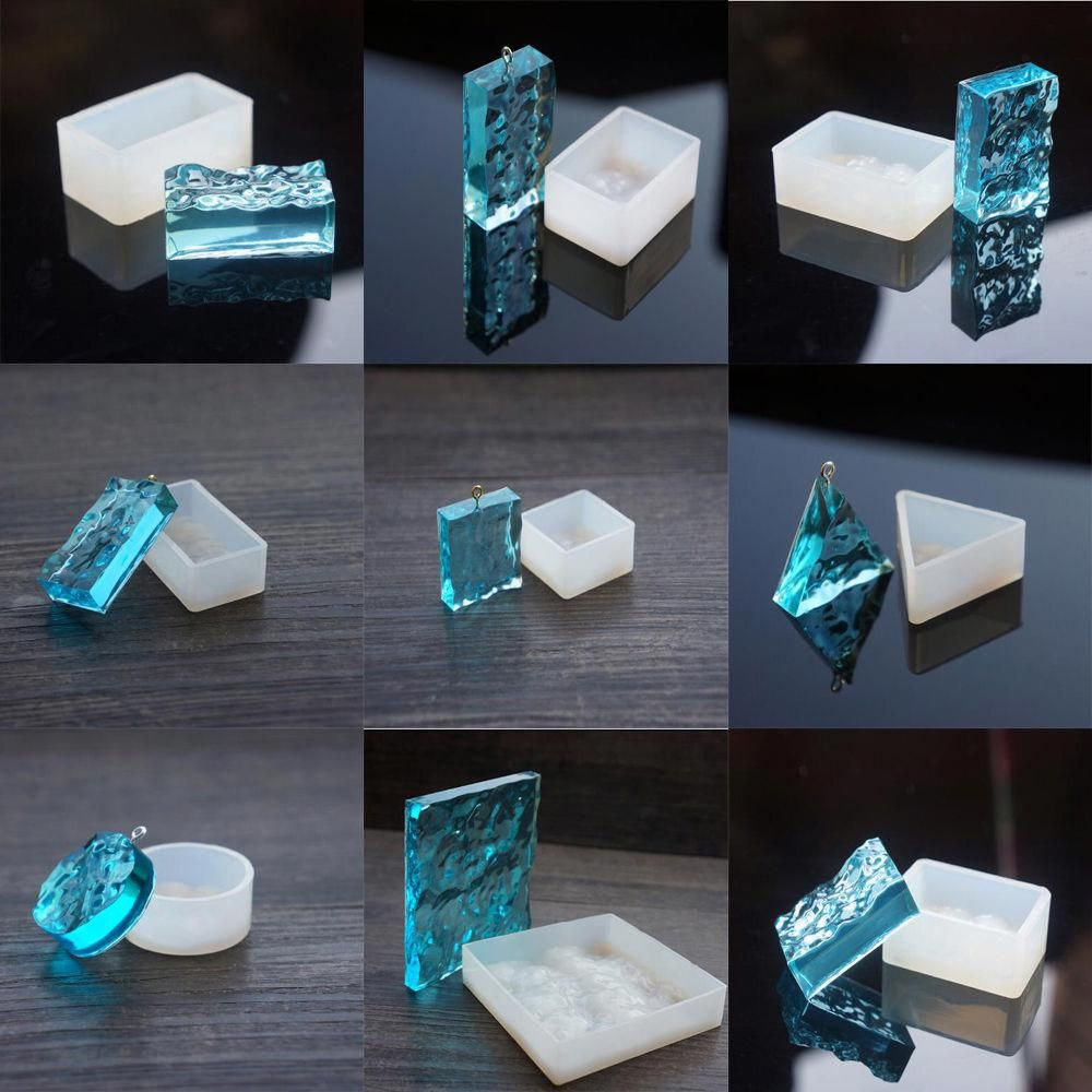 Square Silicone Pendant Mold For Resin Jewelry Necklace Making DIY Craft Mould