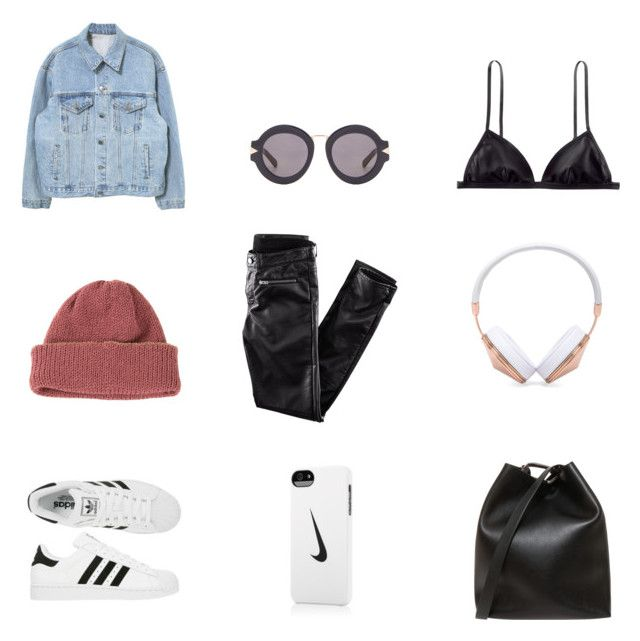 """""""fresh"""" by thisorganizedchaos ❤ liked on Polyvore featuring Karen Walker, H&M, CA4LA, Frends, adidas, NIKE and 3.1 Phillip Lim"""