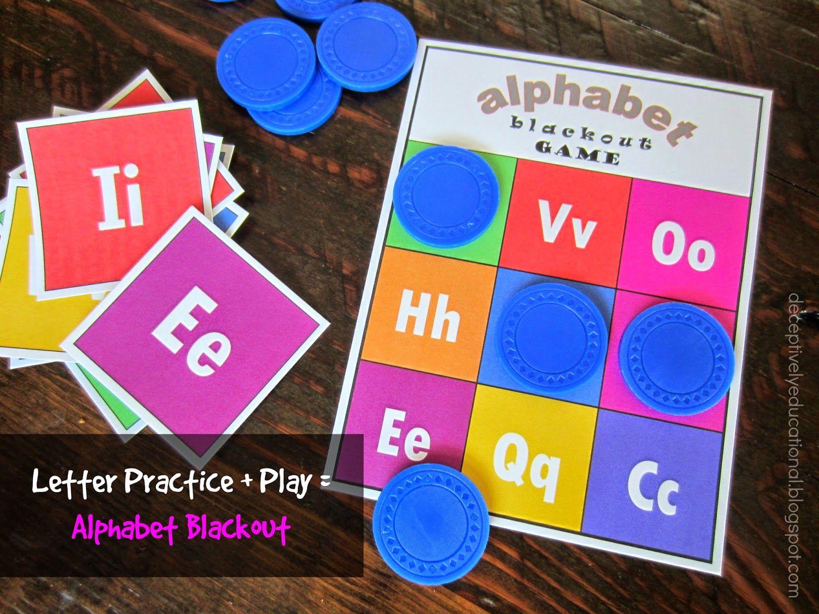 Printable Alphabet Blackout Game  Blackout Game Printable