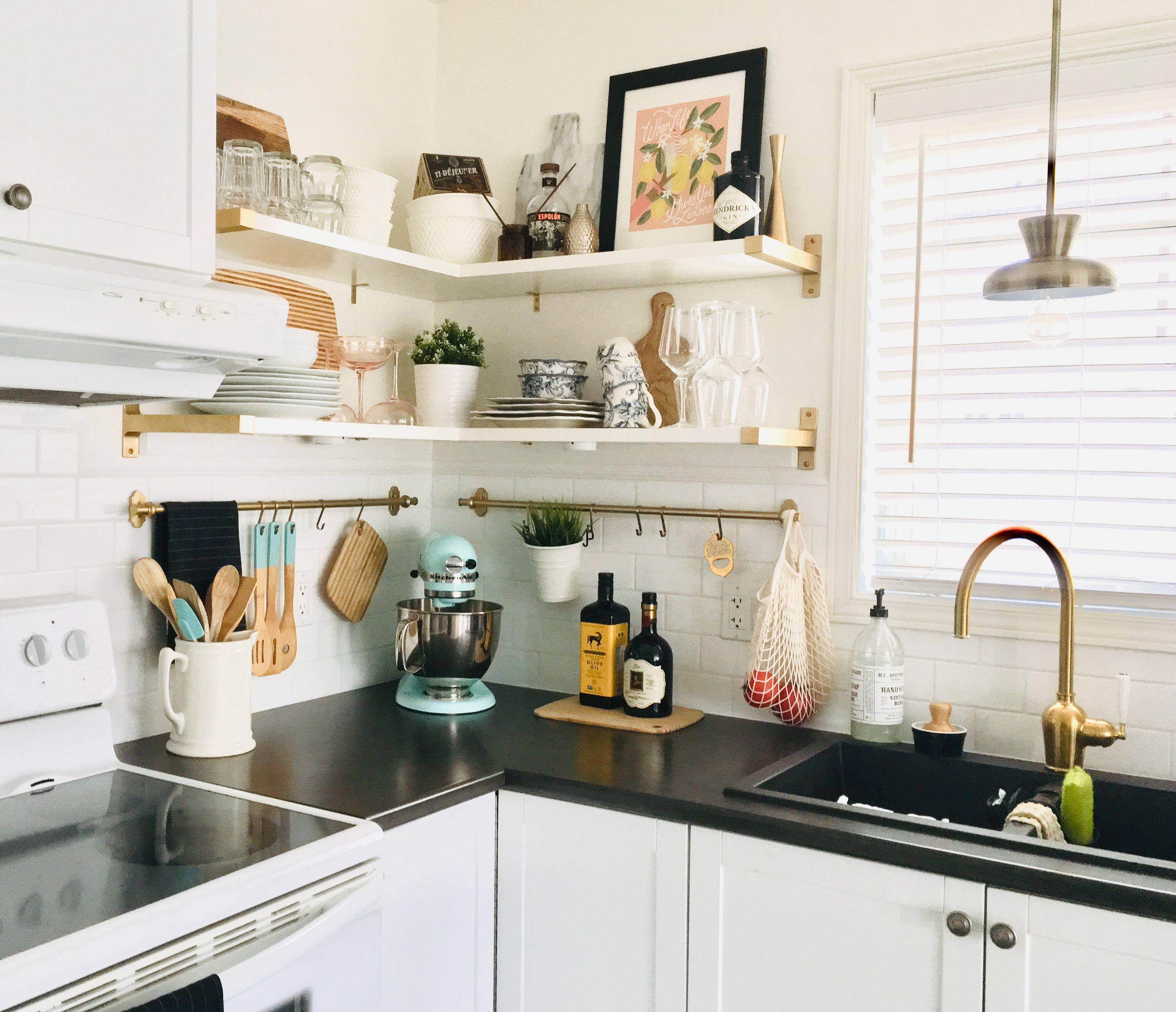 Open Shelves Kitchen Design Kitchen Organization Diy Kitchen Inspirations