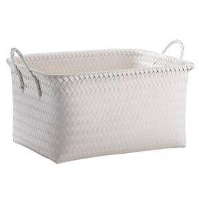Large Woven Rectangular Storage Basket - Room Esse