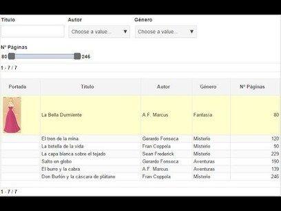 Educación en píldoras: Crear tablas interactivas en Google Sites