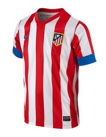 7174bbebf82 12/13 Atletico Madrid Home Red And White Soccer Jersey Shirt Replica ...