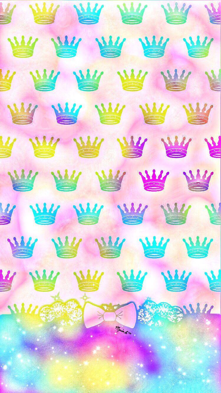 Crowns Pattern Wallpaper/Lockscreen Girly, Cute