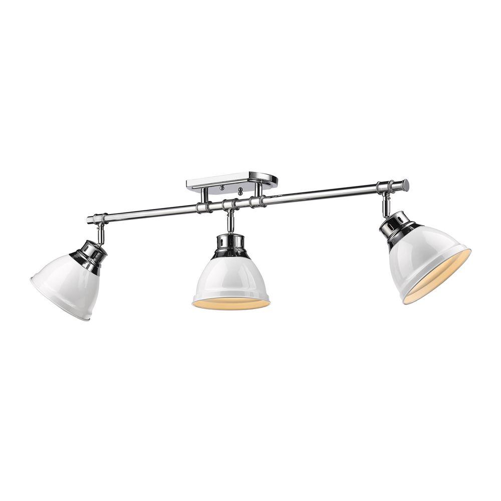 Golden Lighting S Duncan 3 Light Semi Flush Track 3602 3sf Ch