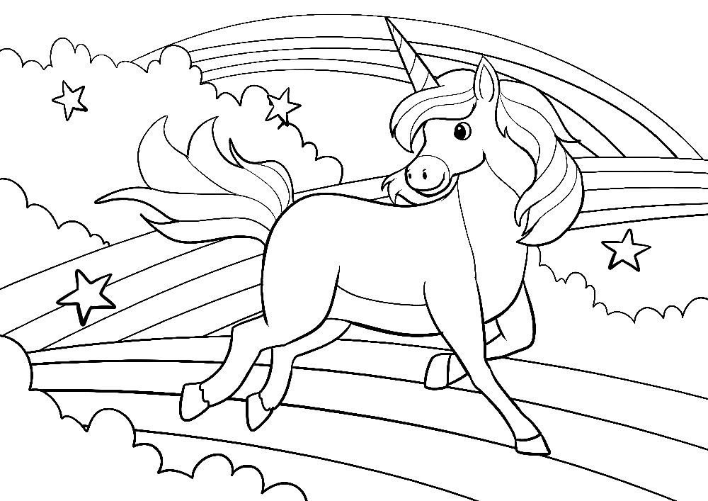 Unicorn And Clouds Rainbows Coloring Pages 1998172498214 Sketchbook Clouds Rainbow Unicorn Coloring Pages Horse Coloring Pages Mermaid Coloring Pages
