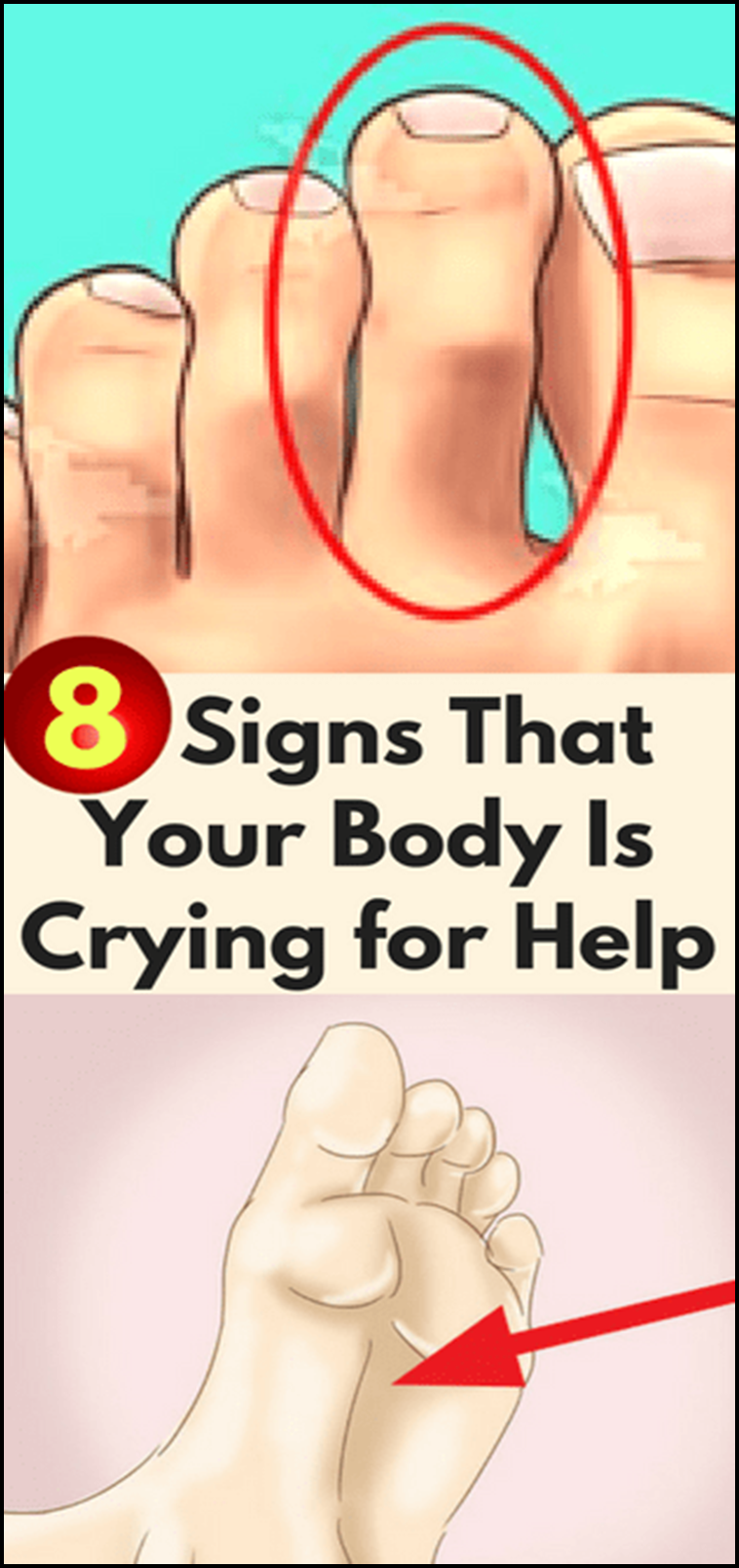 8Signs That Your Body IsCrying for Help