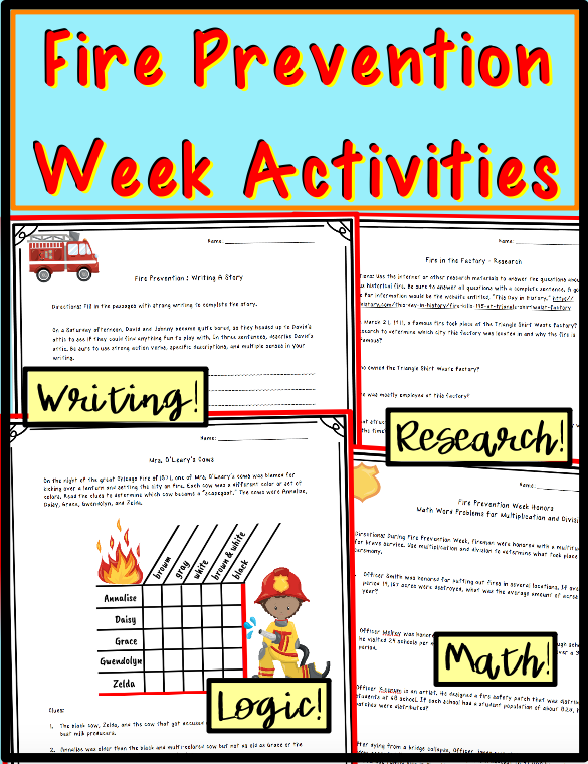 Fire Prevention Week Activities