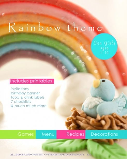Rainbow Party Planner - recipes, loads of printables, tips and tricks. It's brilliant!