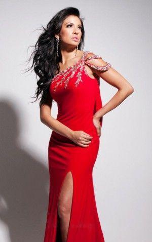 Red Sheath Floor-length One Shoulder Dress Shop Online - 4p101 - sku105130315a32