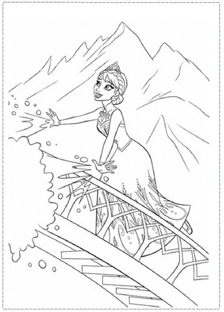 Frozen Coloring Pages Elsa Let It Go Frozen Coloring Pages