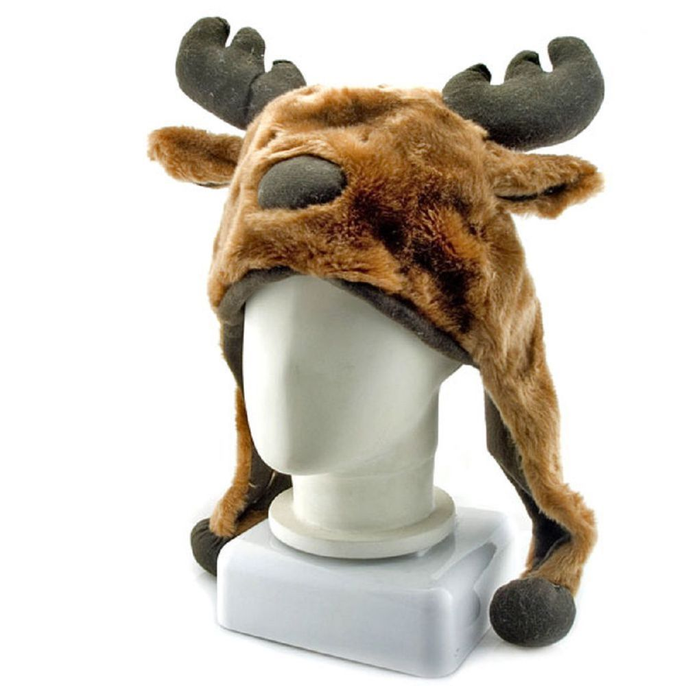 Details about Moose Deer Animal Mascot Plush New Costume Mask Hat ...