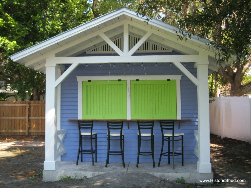 Custom snack shack by historic shed so awesome cute for Garden pool sheds