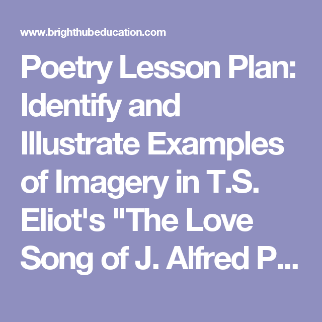 Poetry Lesson Plan Identify And Illustrate Examples Of Imagery In