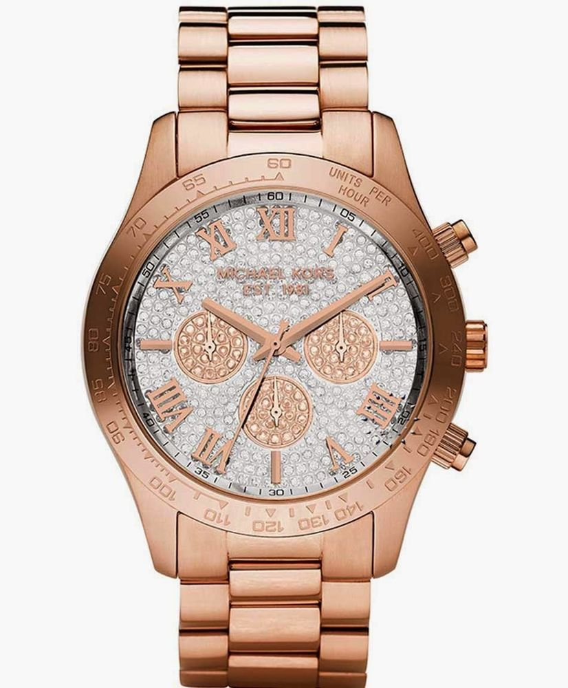 a4ed4f631f01 Nice blink Glam watch --  Michael Kors Women s Watch LAYTON Rose Gold    Clear Swarovski w Box MK5946  MichaelKors  Dress  Watch  Jewelry  189.77