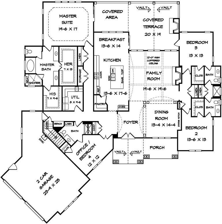 Image Result For House Plan With His And Hers Master Bath