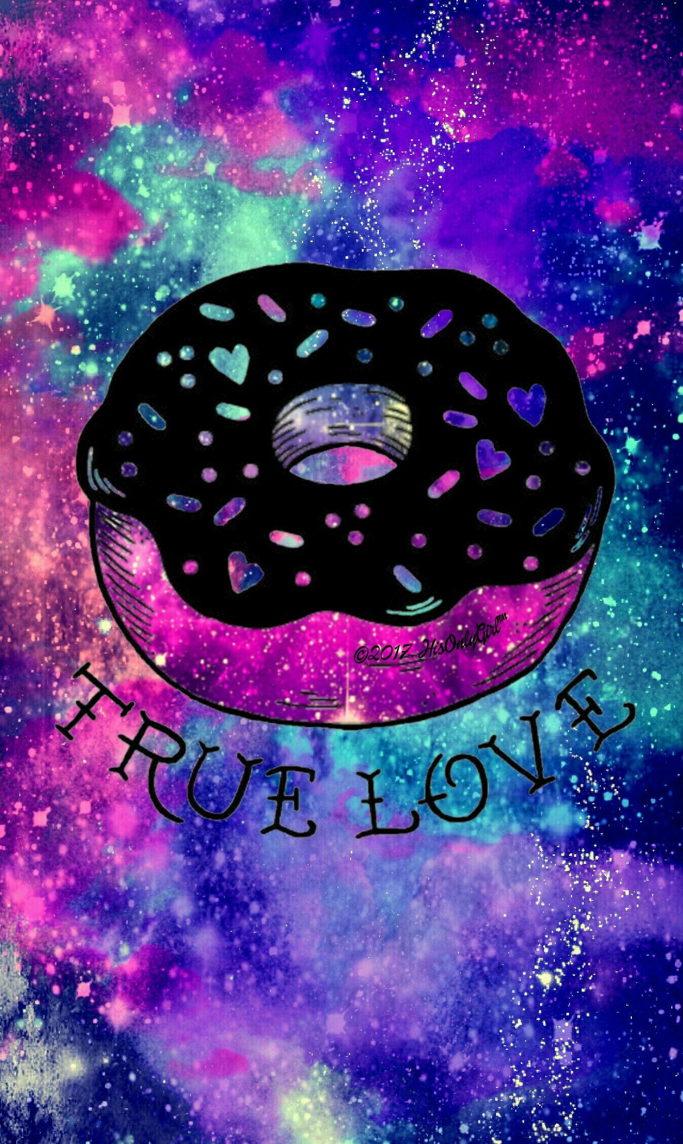 True Love Donut Galaxy Wallpaper I Created For The App Cocoppa Unicorn Wallpaper Galaxy Wallpaper Cute Emoji Wallpaper