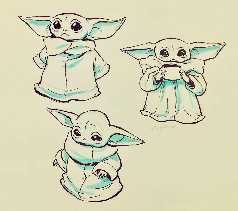A Baby Yoda Fan Account With Images Yoda Art Star Wars Art