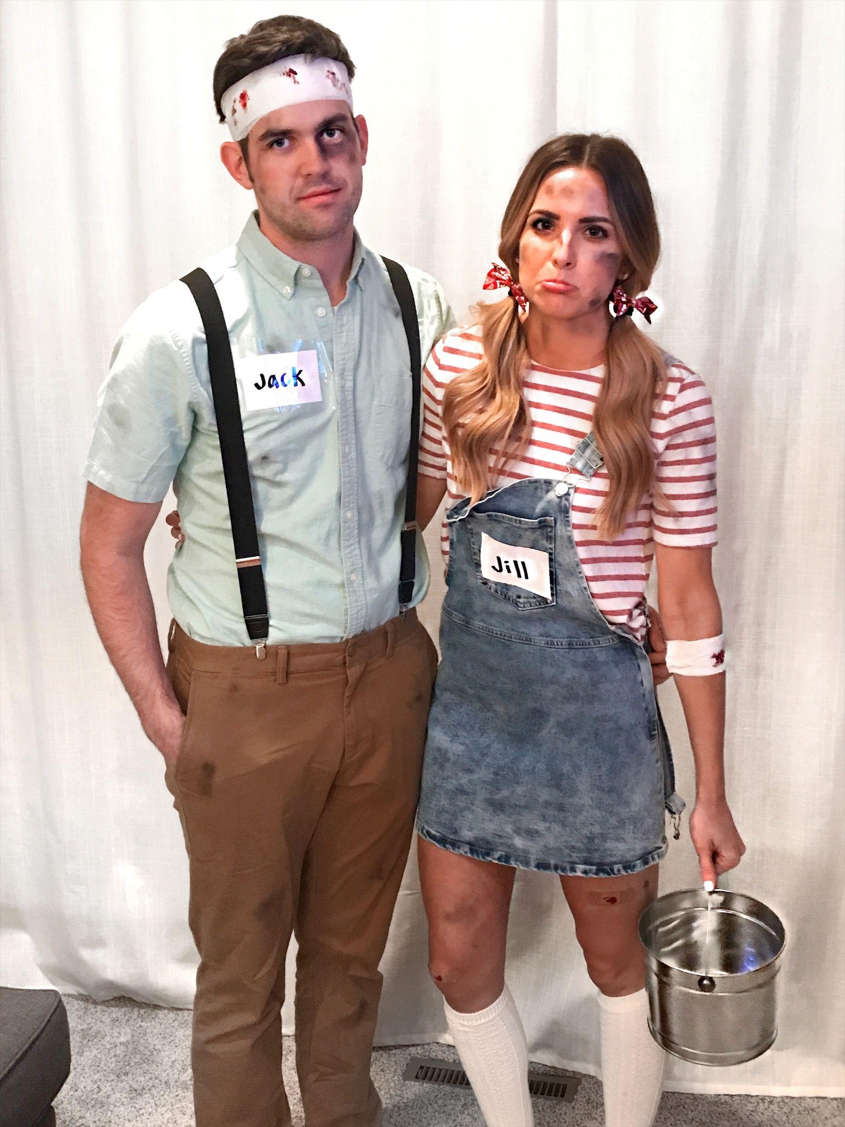 Jack and jill easy halloween costume couples costume diy jack and jill easy halloween costume couples costume diy last minute solutioingenieria Gallery