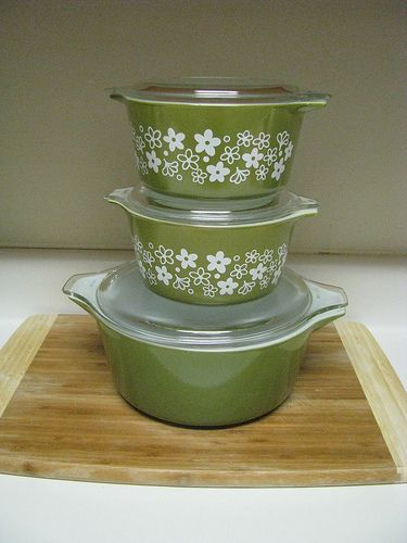 Want it! Spring Blossom & Verde pyrex