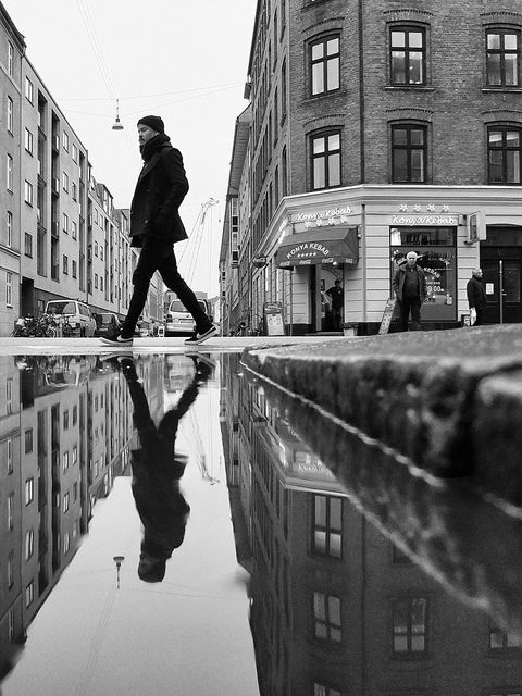 The City In Motion Urban B W Photograpy By Thomas Toft Street Photography Reflection Photography White Photography