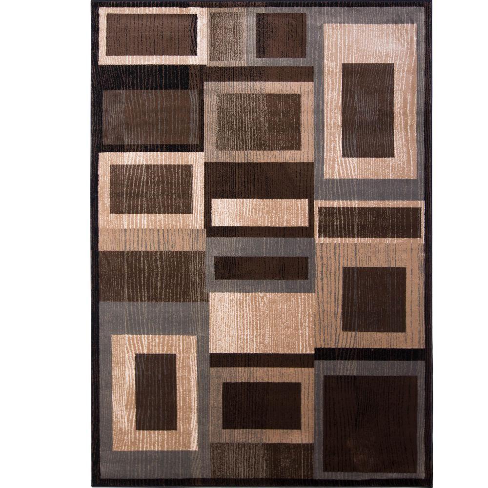 Bazaar Gal 1196 Black Brown 8 Ft X 10 Ft Indoor Area Rug 1 1196 469