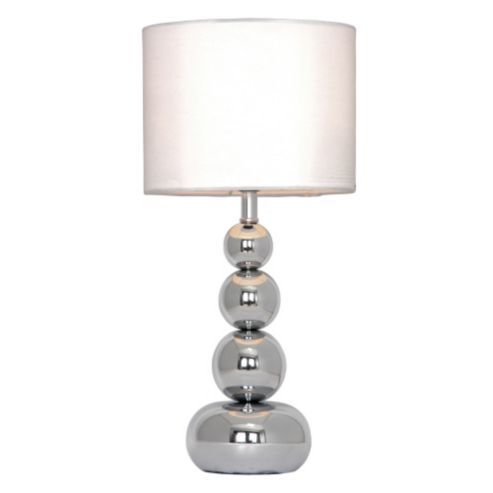 Marissa touch table lamp chrome white touch table lamps chrome marissa touch table lamp chrome white mozeypictures Gallery