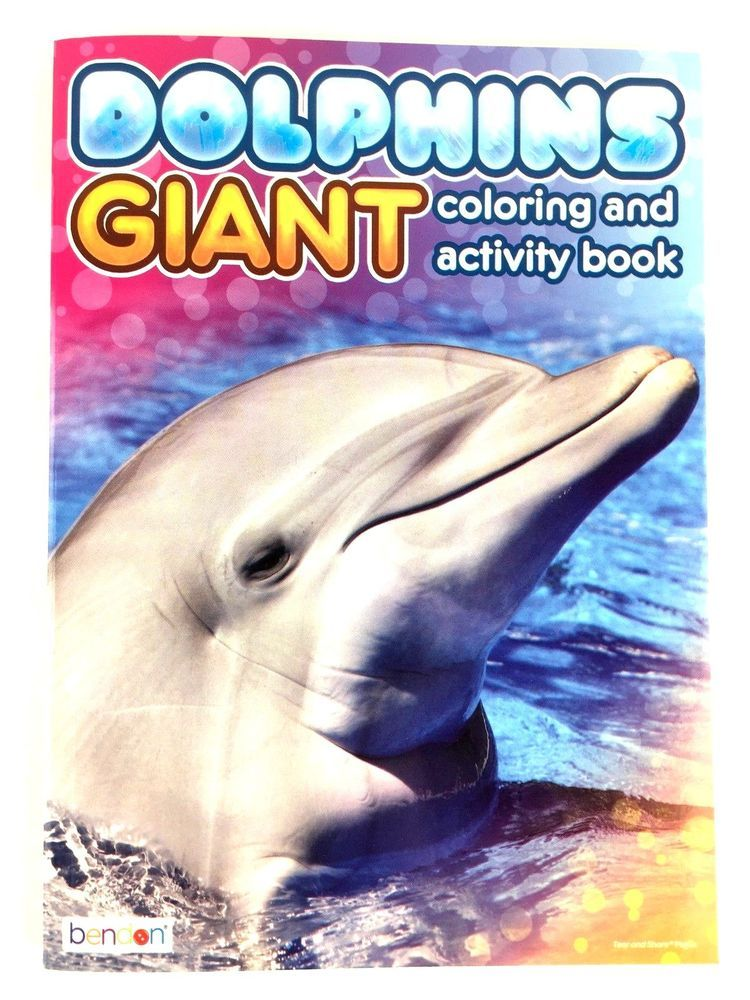 Dolphins Giant Coloring and Activity Book for Kids Sea Life ...