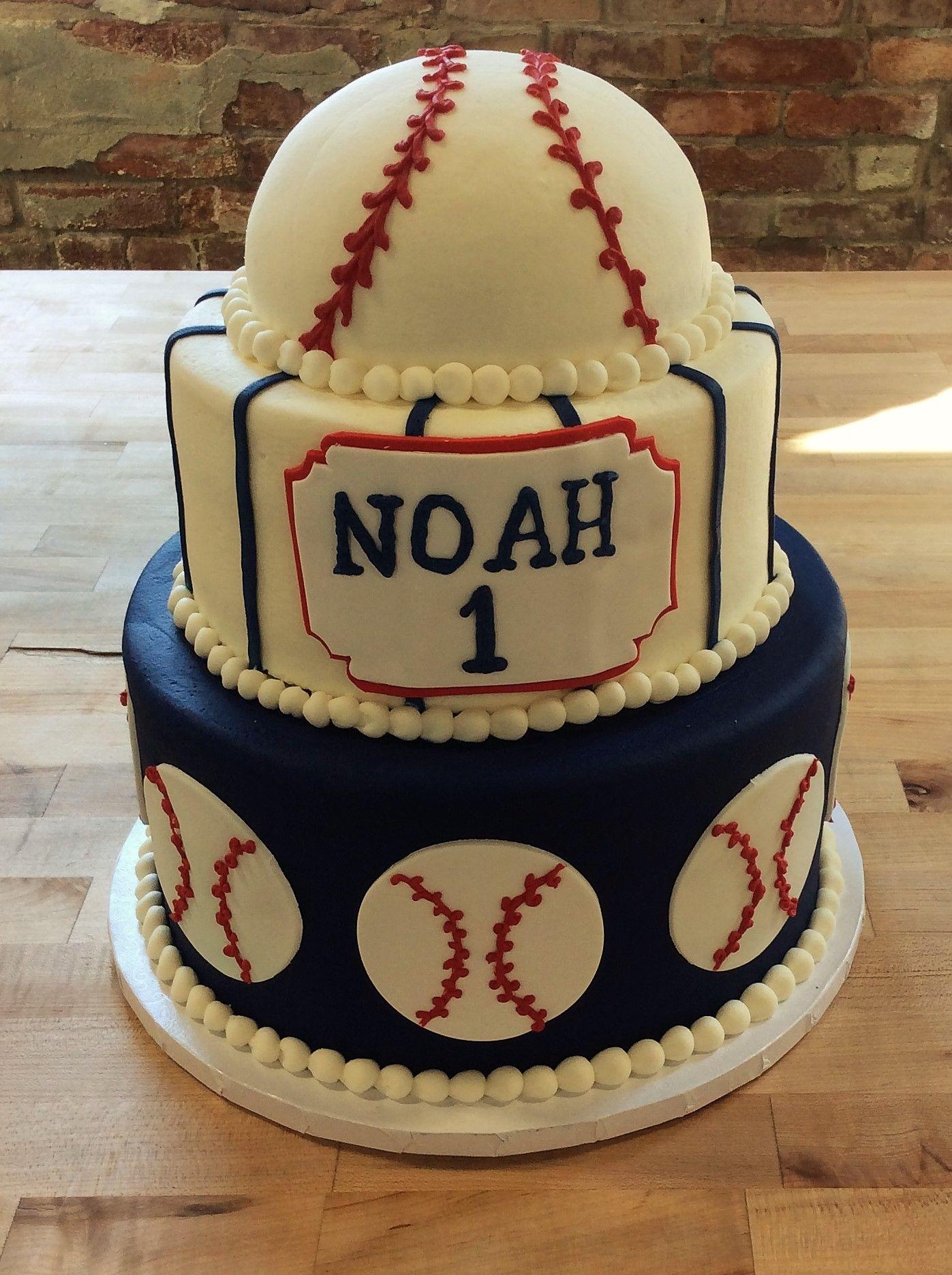 Astonishing Baseball Themed First Birthday Cake Baseball Birthday Cakes Funny Birthday Cards Online Fluifree Goldxyz