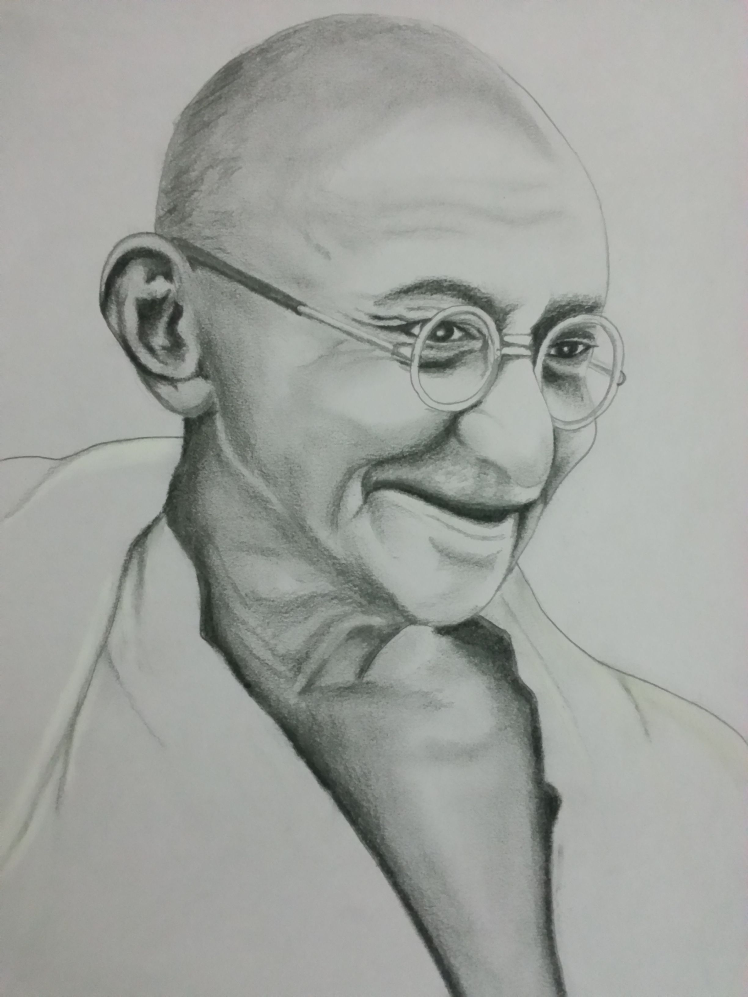 Drawing of mahatma gandhiji visit and subscribe our youtube channel for more fun