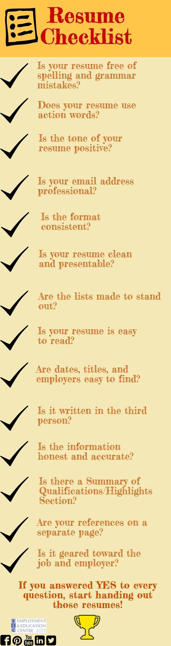 check out this list before you hand out your resume resumetips