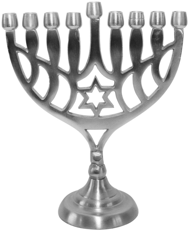 Lamp Lighters Ultimate Judaica Menorah Pewter 8 5 H Menorah Electric Menorah Star Of David