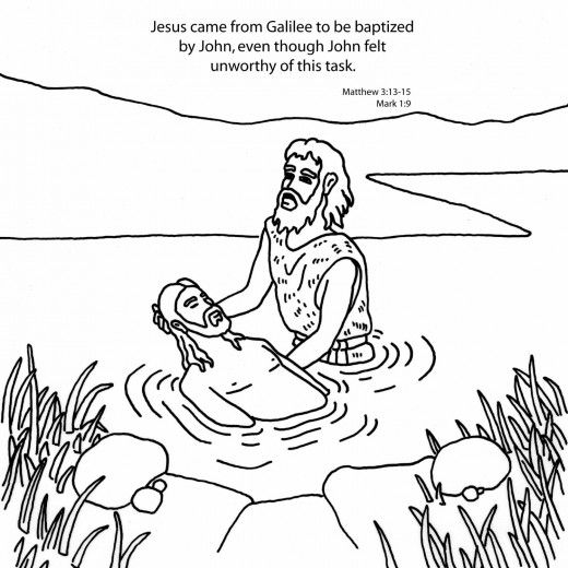 Free Baptism Of Our Lord Coloring Pages With Images Coloring