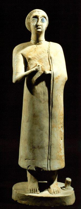 Estatueta de uma deusa, III milênio a.C., Museu do Iraque, Bagdá.