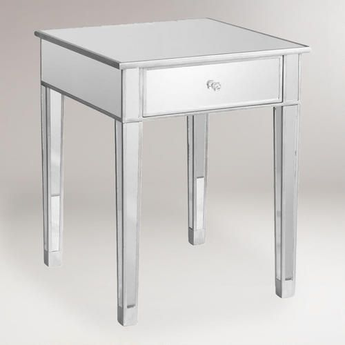 Mirrored Accent Table Mirrored Accent Table Sitting Rooms And Bedrooms