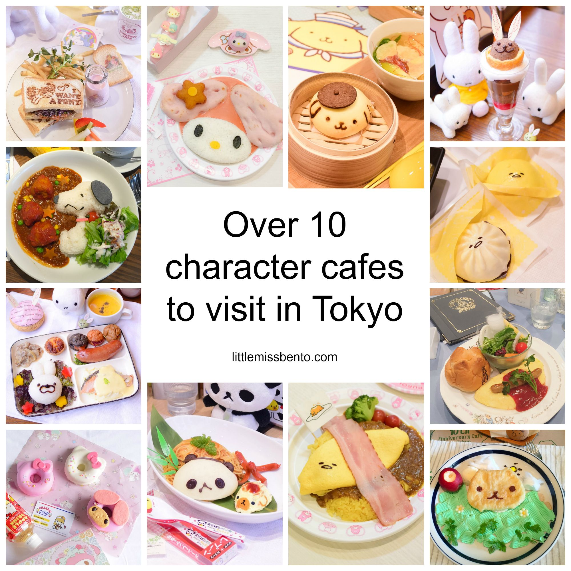 Over 10 Character Cafes in Japan (Tokyo) to visit Bento