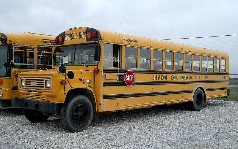 Mid-Late 1980's Chevy Carpenter School Bus | Vintage School