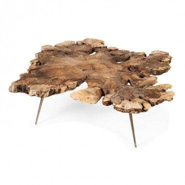 Coffee table - Burl Dark Milpa Coffee Table - 65x51