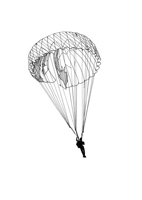 Parachute line drawing untitled 2 forever ink - Dessin parachutiste ...