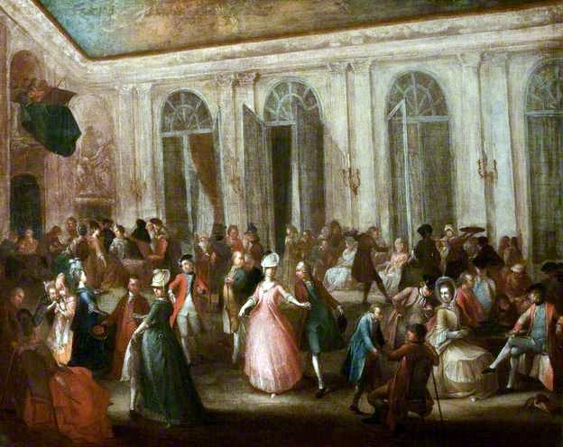 An Assembly At The Pump Room Bath By John Sanders 1750 1825