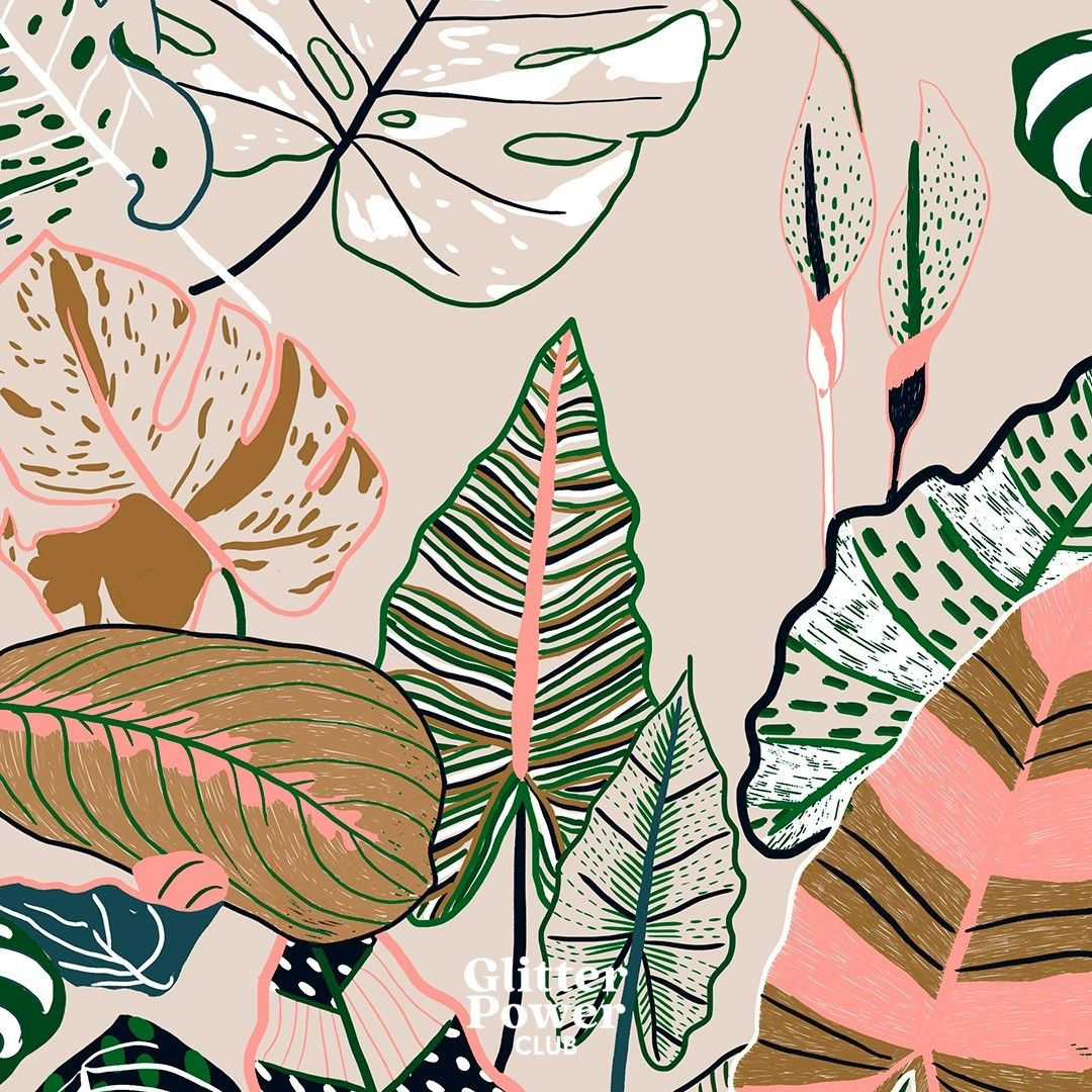 Naïma sur Instagram: Any plant lady in here? 🌿   #patterndesign #surfacepatterdesigner #drawing #patternlove #illustration #design #textiledesign #art…