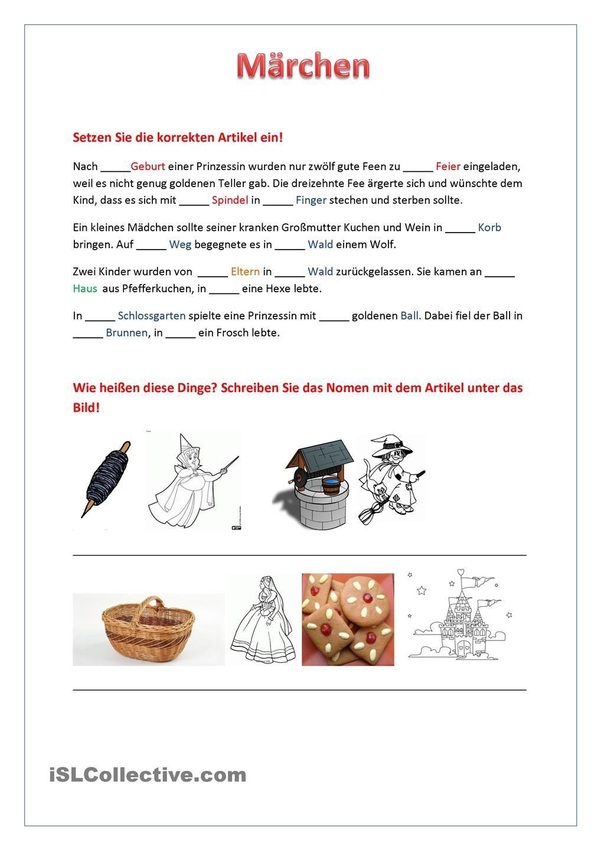 Maerchen | Worksheets and School