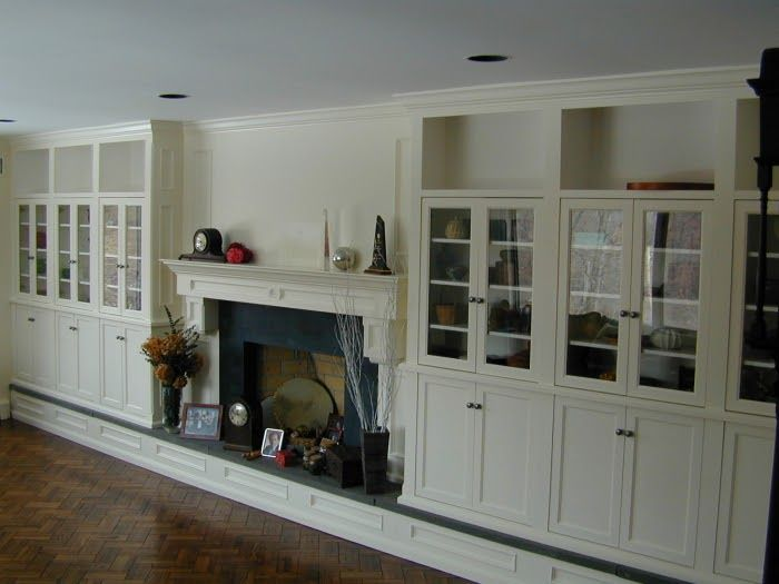 Craftsman style built in bookcases home decor and design for Craftsman gas fireplace
