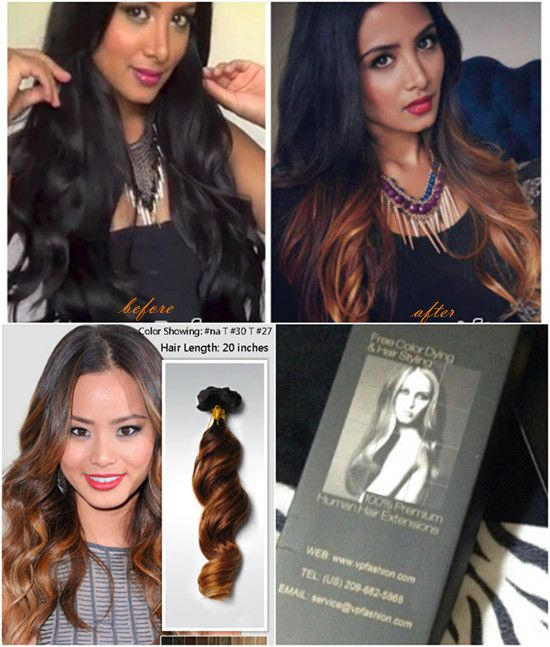 Three Tone Human Ombre Extensions For Cute Hairstyles New Year 2014