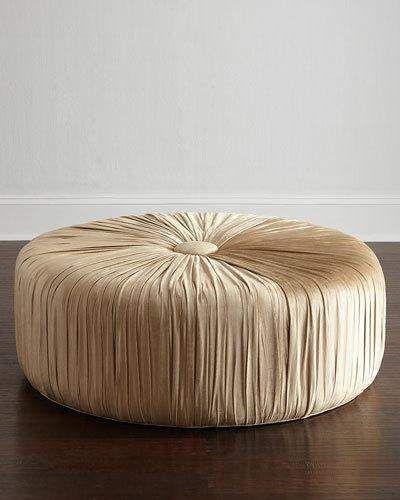 Awesome Haute House Pasha Round Ottoman Furniture Ottoman Round Machost Co Dining Chair Design Ideas Machostcouk