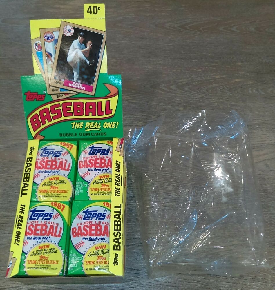 1987 topps baseball wax pack lot 3 from sealed box